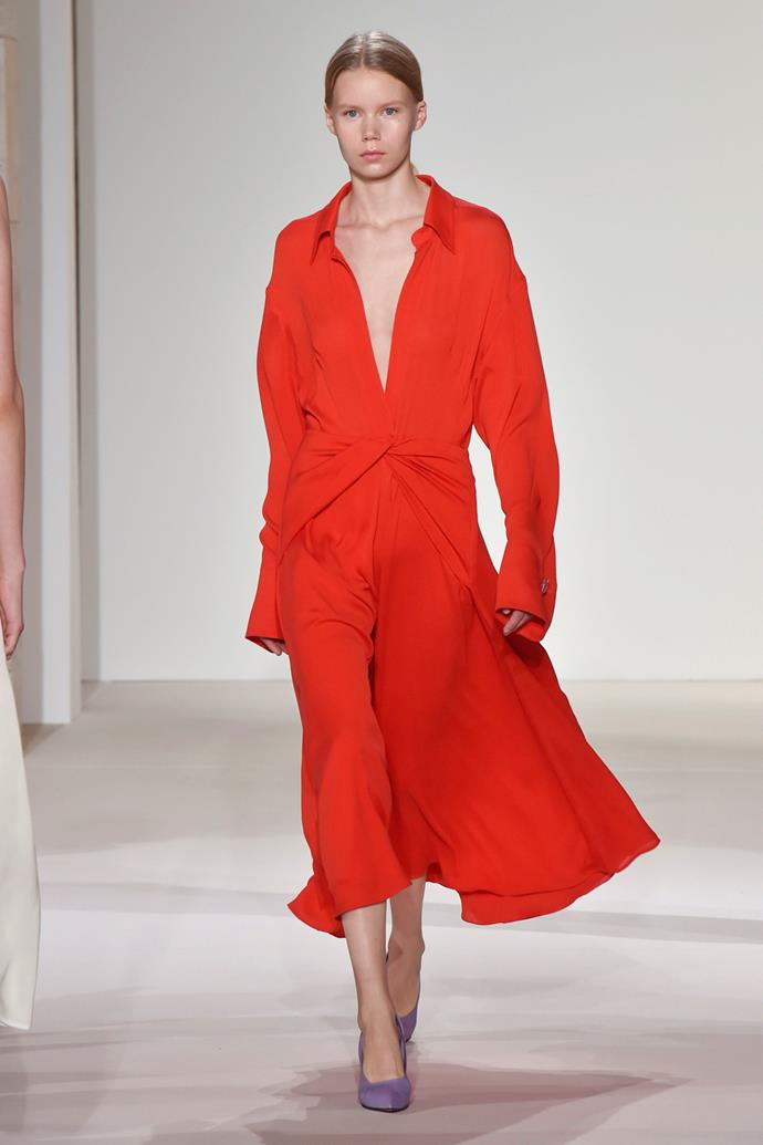 **Bright Red** <br><br> Victoria Beckham spring summer '18