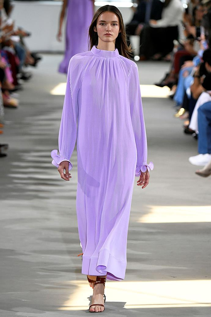**Lilac** <br><br> The return of lilac sits within a larger trend towards pastels in the spring summer categories, and offers a fresh alternative to Millenial Pink.  <br><br> Tibi spring summer '18