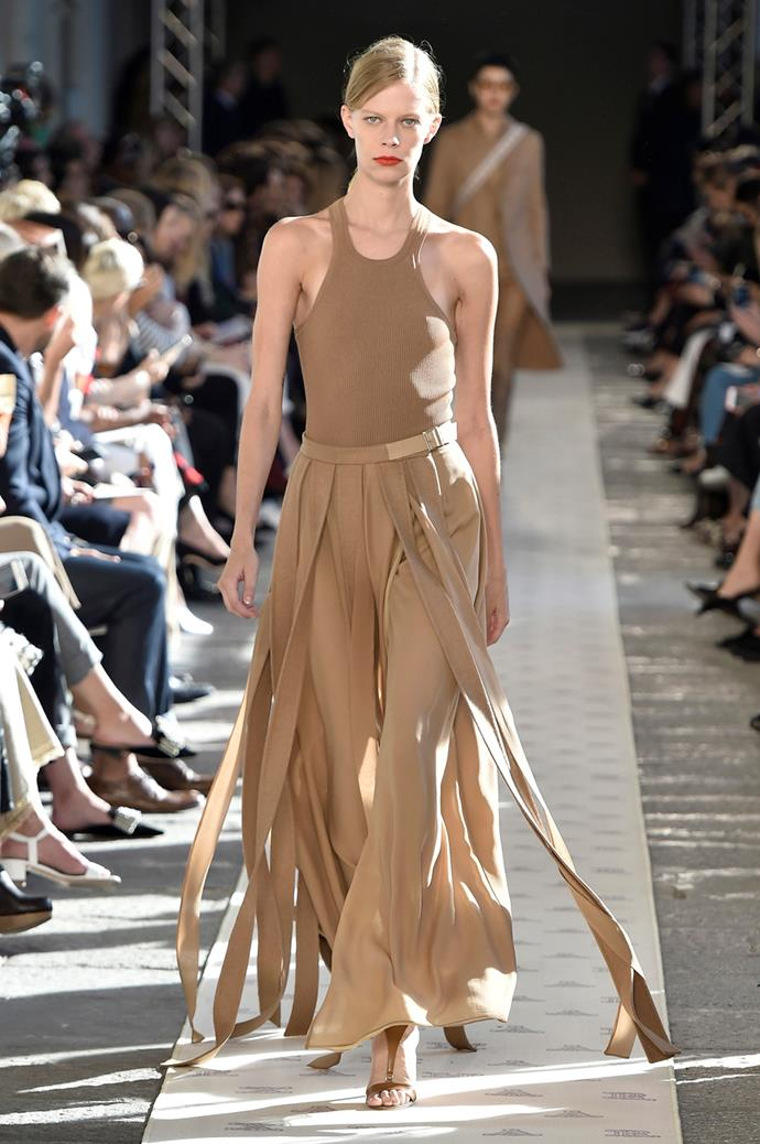 **Mocha** <br><br> Earthy, neutral browns were popular on the autumn winter '18 runways and showed no signs of slowing down for ss18.  <br><br> Max Mara spring summer '18