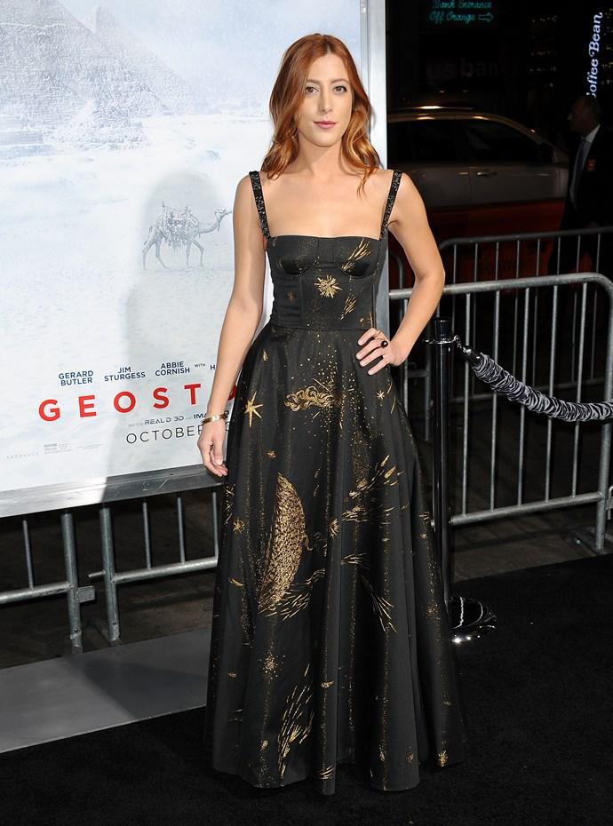 Daniella Garcia-Lorido at the premiere of Geostorm, October 2017.