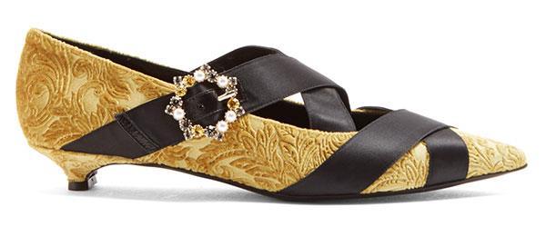 "Heels, $780, Erdem at [Matches Fashion](https://www.matchesfashion.com/au/products/Erdem-Efa-point-toe-velvet-pumps-1169983|target=""_blank""|rel=""nofollow"")"