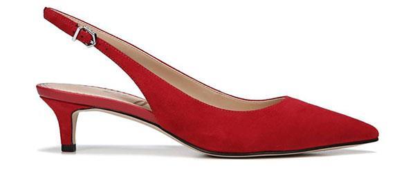 "Heels, $110, Sam Edelman at [Nordstrom](https://shop.nordstrom.com/s/sam-edelman-ludlow-slingback-pump-women/4659062?origin=keywordsearch-personalizedsort&fashioncolor=TRUE%20RED%20SUEDE|target=""_blank""|rel=""nofollow"")"