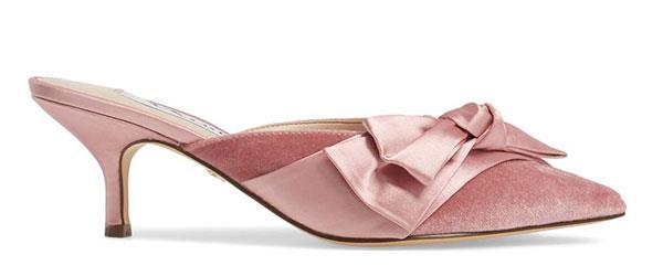 "Heels, $50, Nina at [Nordstrom](https://shop.nordstrom.com/s/nina-timara-bow-mule-women/4645940?origin=keywordsearch-personalizedsort&fashioncolor=SUGAR%20GLAZE%20VELVET|target=""_blank""|rel=""nofollow"")"