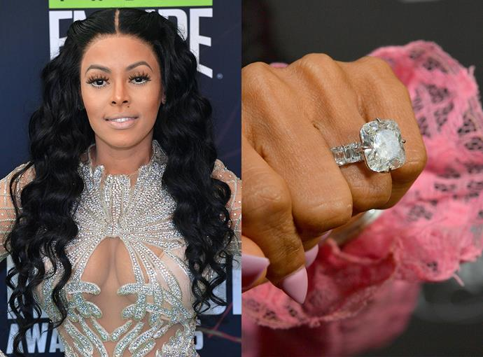 ***Keyshia Ka'oir***  Keyshia Ka'oir received a huge 25-carat diamond ring from rapper Gucci Mane. The pair were married in October, 2017.