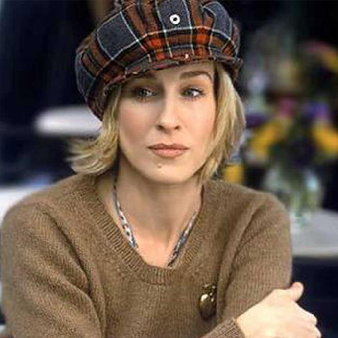 **The bad**   A *tartan* pageboy cap, Carrie-really?!