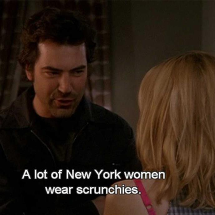 **The questionable**  Scrunchies? We're still not sure whether to side with Carrie or Berger on this one.