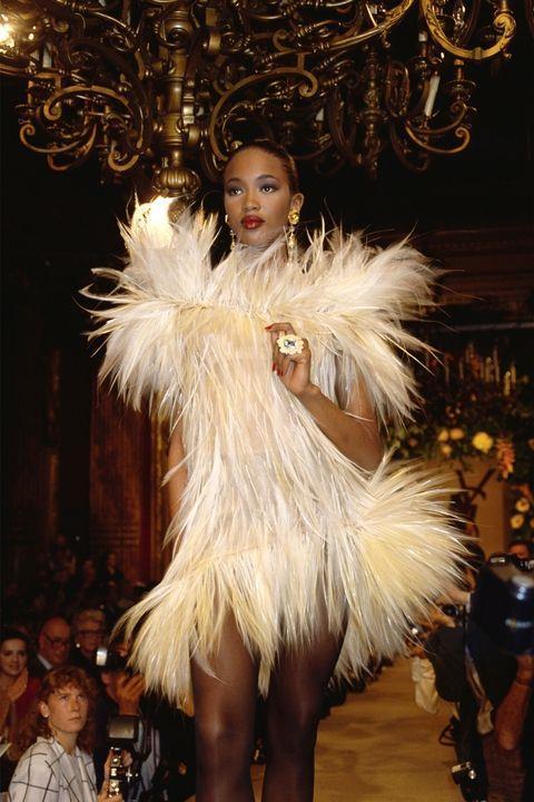 **NAOMI CAMPBELL** <BR><BR> Yves Saint Laurent autumn '87