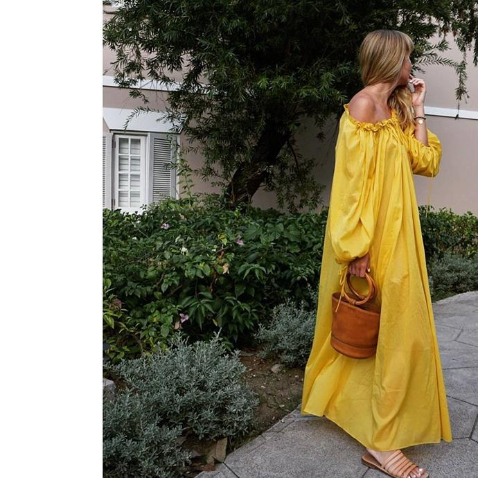 """**Three Graces London** <br><br> The collection of cotton maxi-dresses by British label **Three Graces London** are completely ideal for beach-trotting or party-going. Our favourite: the mango-yellow iteration, which provides a slice of bold, wearable chic in any setting.  <br><br> *Dress: $615, [MyTheresa](https://www.mytheresa.com/en-au/001328-cotton-maxi-dress-822174.html?catref=category