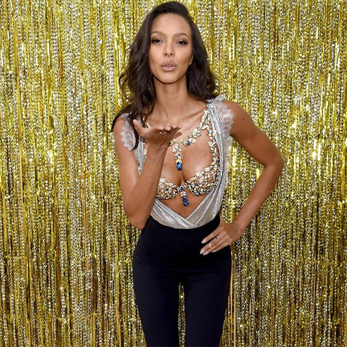 **2017: Champagne Nights**<br> Angel: Lais Ribeiro<br> Value: $2 million<br><br>  Angel Lais Ribeiro has been announced as the 2017 wearer of the Fantasy Bra, ahead of the official show in Shanghai later this month. The 'Champagne Nights' bra is made up of diamonds, yellow sapphires and blue topaz, with more than 600 carats.