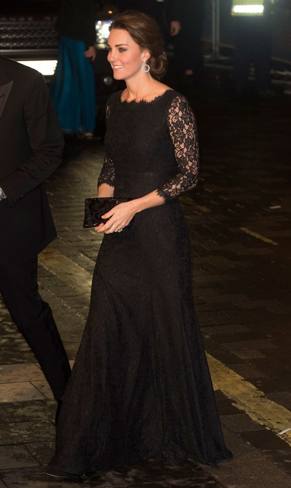 Kate has *also* wore the same dress before, donning the lace number at The Royal Variety Performance back in November 2014.