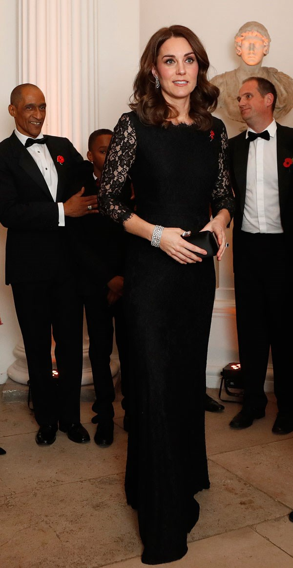 Kate Middleton wore this floor length ebony lace gown by Diane von Furstenberg for the 2017 Gala Dinner for The Anna Freud National Centre for Children and Families. But it's not the first time we've seen this dress.
