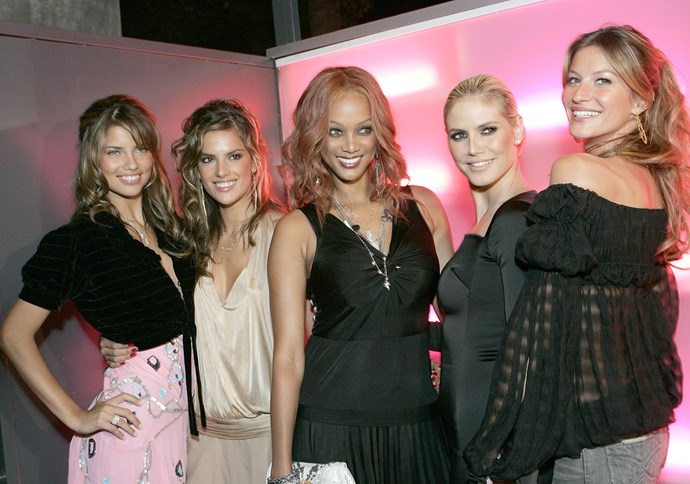 """**8. The Victoria's Secret Fashion Show didn't tape or air in 2004.** Blame Janet Jackson and Justin Timberlake—there was so much backlash from their controversial Super Bowl half-time show that year (when Timberlake exposed Jackson) that all TV networks became worried about """"suggestive programming."""" In its place, Victoria's Secret hosted an 'Angels Across America' event, which saw models Gisele Bündchen, Tyra Banks, Heidi Klum, Adriana Lima and Alessandra Ambrosio driving around in a bus to NYC, Miami, Las Vegas and LA to meet fans. [Lima described it](http://www.elle.com/culture/a40862/victorias-secret-fashion-show-timeline/