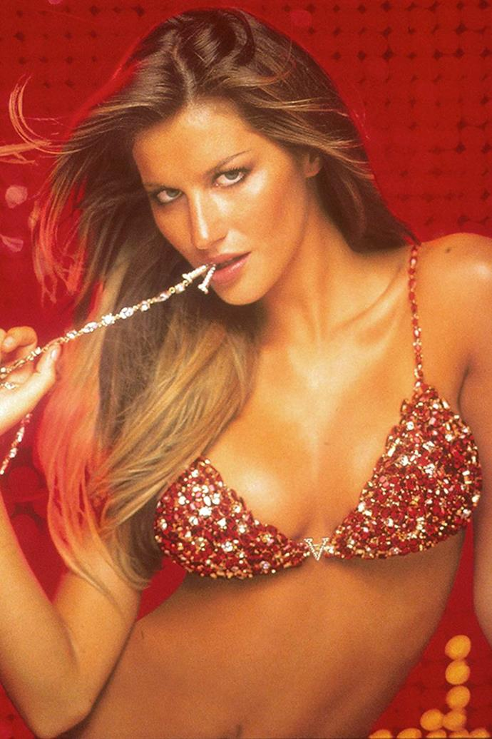 **11. The most expensive Fantasy Bra ever was worth $19 million.** Named the 'Red Hot Fantasy Bra,' it was worn by Gisele Bündchen in 2000. The Fantasy Bras of more recent years have seemed really cheap by comparison—cheap being around $2 million, of course.