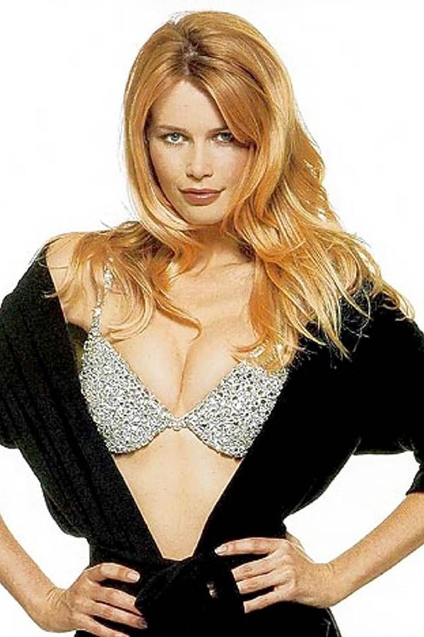 **10. The first Fantasy Bra was made and worn in 1996.** Dubbed 'The Million Dollar Miracle Bra,' it was covered in $1.3 million worth of diamonds, and was worn by Claudia Schiffer.