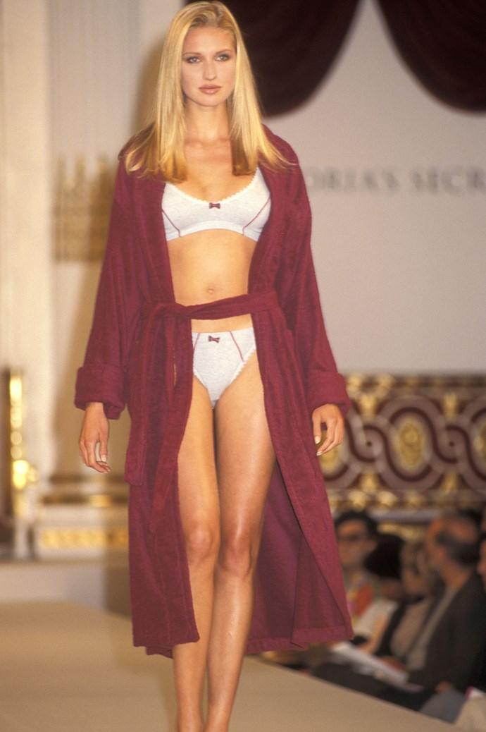 **5. The first Victoria's Secret Fashion Show was held in 1995.** It was staged at the Plaza Hotel in NYC in August 1995, and wasn't broadcast on TV. It was literally models walking around in nightgowns—completely different to the extravaganza it has become today.
