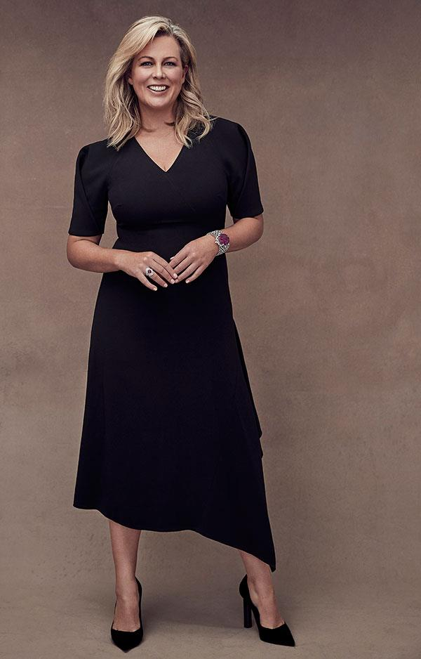 The Voice: Co-host *Sunrise*, Samantha Armytage  Photographed by Steven Chee, styled Caroline Tran.