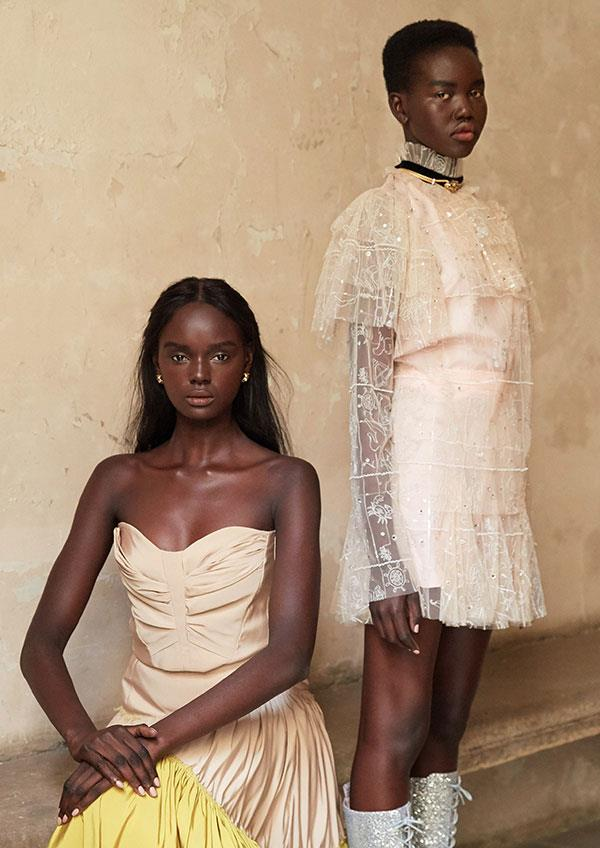The Goddesses: Models, Duckie Thot & Adut Akech  Photographed by Darren McDonald, styled by Lauren Davis.