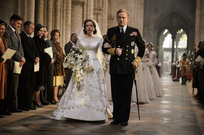 **Season 1 Episode 1** <br><br> Princess Elizabeth and King George VI (Jared Harris)