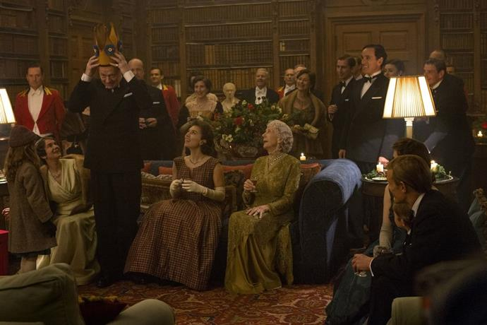 **Season 1 Episode 2** <br><br> King George VI, Princess Margaret (Vanessa Kirby), and Queen Mary (Eileen Atkins)