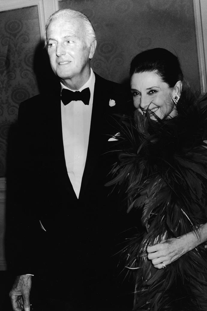 """**Hubert de Givenchy and Audrey Hepburn** <br><br>  [Hubert de Givenchy](https://www.harpersbazaar.com.au/fashion/hubert-de-givenchy-audrey-hepburn-15986