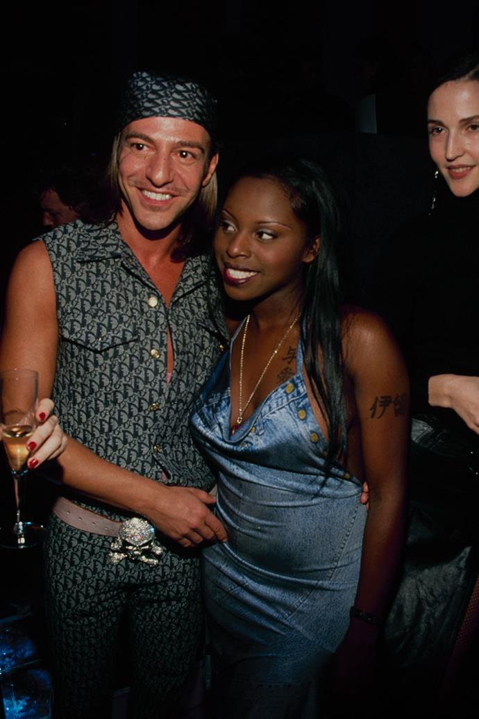 """**John Galliano and Foxy Brown** <br><br> Galliano and Brown were equally known for producing controversial work, so it made sense that Galliano who was the creative director of Christian Dior at the time, appointed Foxy Brown as his muse for Dior's spring summer '00 collection. <br><br> Brown performed at the opening of Christian Dior's boutique in New York in 1999 and said, """"I've always been a John Galliano fan from day one, I think he is the designer for the millennium. I'm his biggest supporter; biggest fan and I know he's a fan of mine."""" Brown later mentioned her status as a fashion icon in her 2001 hit 'Oh Yeah' whereby she referenced herself as a """"Christian Dior poster girl."""""""