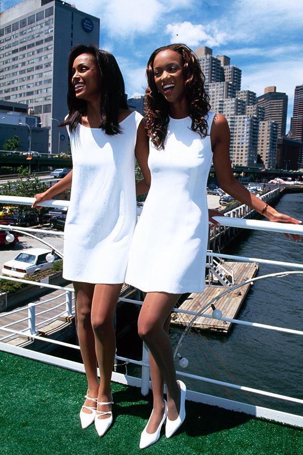 Lana Ogilvie and Tyra Banks
