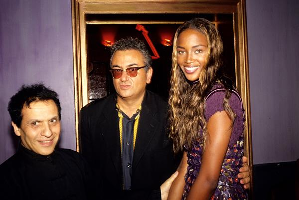 Azzedine Alaïa with Naomi Campbell and Hubert Boukobza,1990s