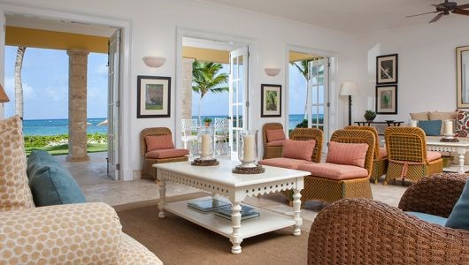 "**Tortuga Bay Hotel Dominican  Republic** <br><br> The Tortuga Bay Hotel was styled by the Late Oscar de la Renta and embodies a classic, yet tropical Caribbean style which is reminiscent of the local aesthetic. The villas exterior is painted bright yellow, with interiors inspired by the indigenous culture of the Dominican Republic.  <br><br> Image via [Tortuga Bay Hotel](  http://tortugabayhotel.com/suites |target=""_blank"")."