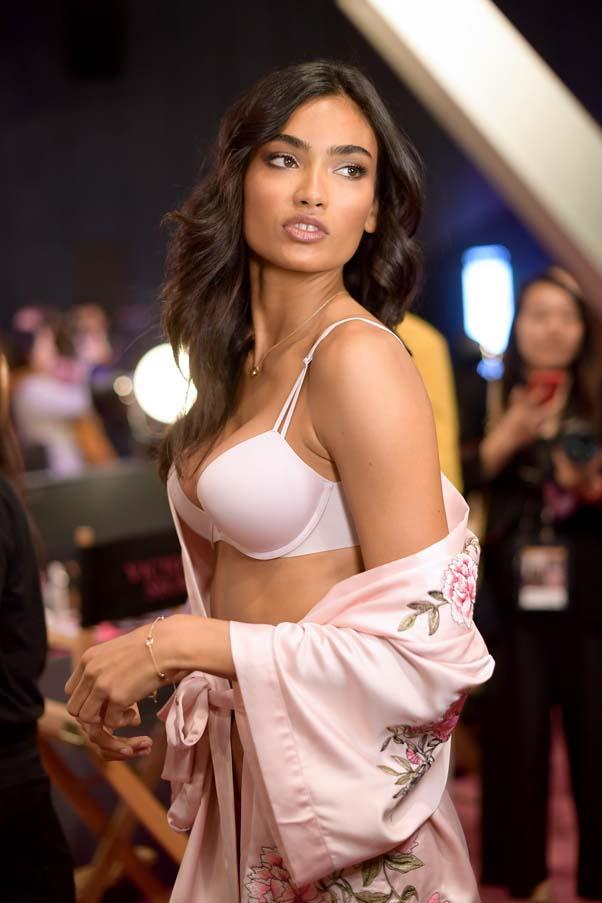 Kelly Gale backstage at the 2017 Victoria's Secret Fashion Show.