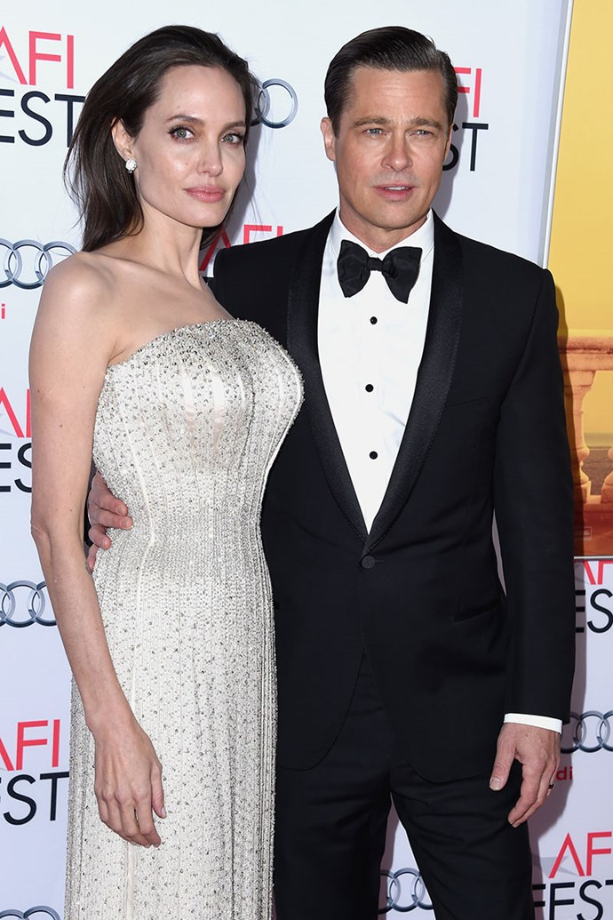 """**Brad Pitt and Angelina Jolie** <br><br> Brad Pitt was married to Jennifer Aniston when sparks flew on set while filming *Mr. & Mrs. Smith* with co-star Angelina Jolie. Aniston filed for divorce in 2005, and Jolie later caused a stir in 2008, when she said in an interview that she that she and Pitt were looking forward to their children seeing *Mr. & Mrs Smith* one day: """"not a lot of people get to see a movie where their parents fell in love."""" The couple split late last year, after a 10-year relationship."""