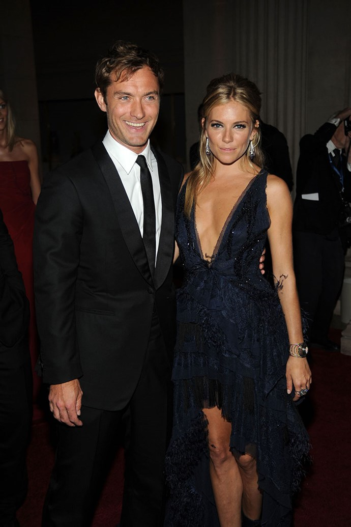 """**Jude Law and Sienna Miller** <br><br> In 2005, Jude Law admitted that he had cheated on his fiancée Sienna Miller with his children's nanny. Law soon made a public apology, which stated, """"I'm deeply ashamed and upset that I've hurt Sienna."""" The nanny, Daisy Wright, did a tell-all interview where she said that Law is a """"great lover."""" Law and Miller soon split. However, years later Miller was photographed topless and kissing actor Balthazar Getty, a married man with four children."""