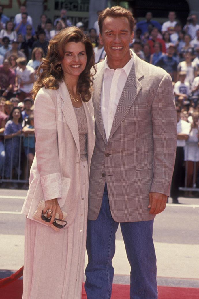 **Arnold Schwarzenegger and Maria Shriver** <br><Br> Danish actress Brigitte Nielsen revealed she and Schwarzenegger had an affair while he was married to Maria Shriver, in a memoir published in 2011. Schwarzenegger later admitted to the affair, which prompted the end of his 25-year marriage to the Kennedy family daughter and newswoman.