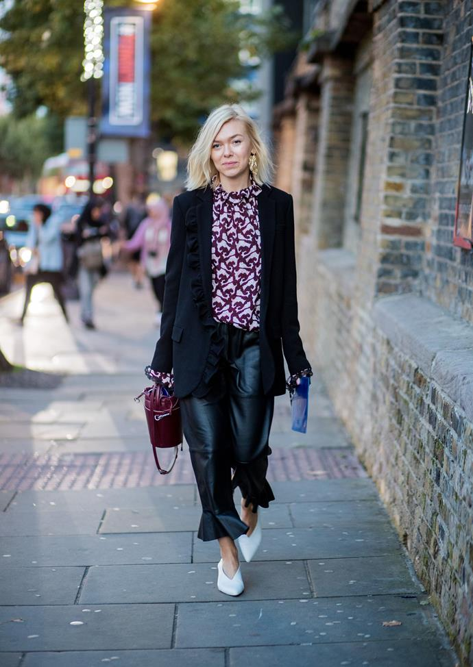**SOURCE A STATEMENT BLOUSE** <br><br> If dresses aren't for you, make your look come into its own with an expressive blouse. It's normal to be wary of florals and prints, but straying into patterned territory can often pay off, and bring your outfit to another level of creativity.