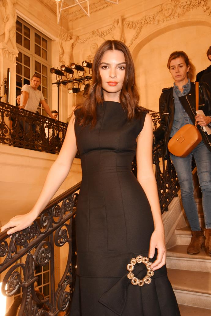 """**THE POWER OF A FORM-FITTING DRESS** <br><br> A body-fitting black gown (with a modern twist) knows no bounds, and will work just as well at your office as it will at the dinner you need to go to after. Try this **Jacquemus** look, seen here on [**Emily Ratajkowski**](https://www.harpersbazaar.com.au/fashion/emily-ratajkowski-harpers-bazaar-australia-cover-august-2017-13583