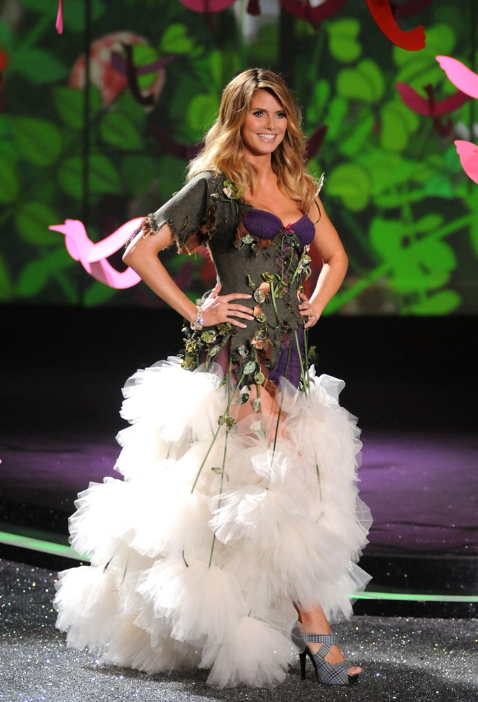 Never one to do things in half-measures, Heidi Klum shocked the world when she returned to the VS runway a mere five weeks after giving birth to her daughter Lou Sulola in 2009.