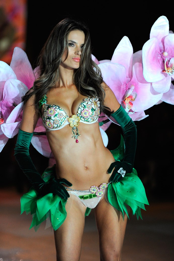 Brazilian bombshell Alessandra Ambrosio returned to the runway in 2012, six months after giving birth to her son Noah.