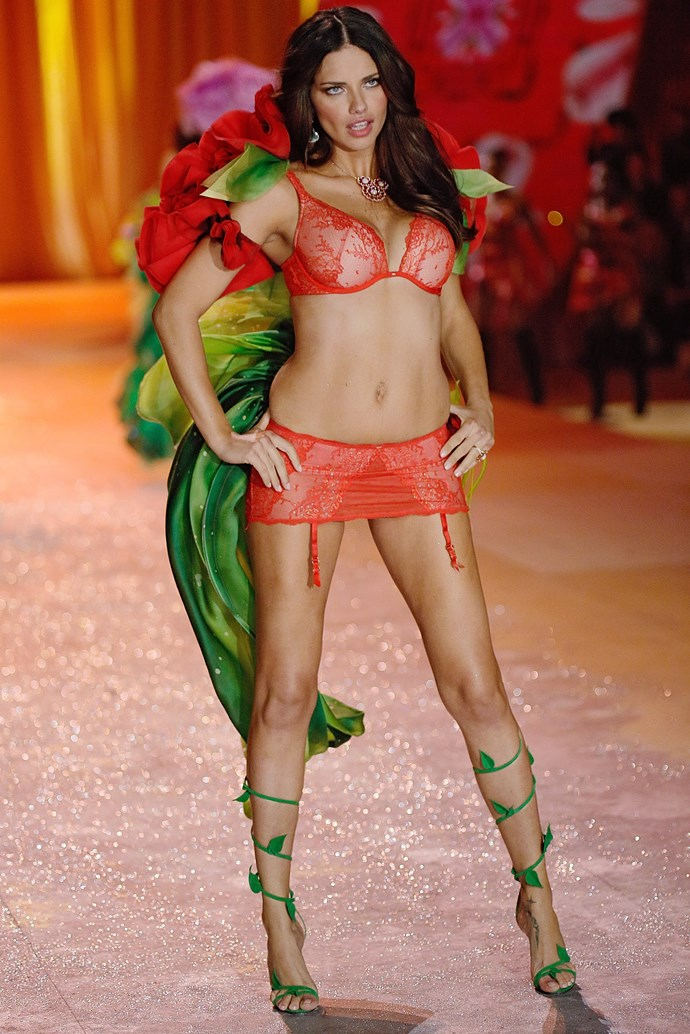 The VS veteran made headlines in 2012 when she returned to the runway only two months after giving birth to her second daughter.