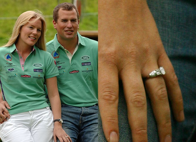 **Miss Autumn Kelly**<br><br> Autumn Kelly was given a diamond-and-platinum ring by Peter Phillips, Princess Anne's son. The oval-cut centre stone is flanked by several smaller diamonds, and it is set in platinum.