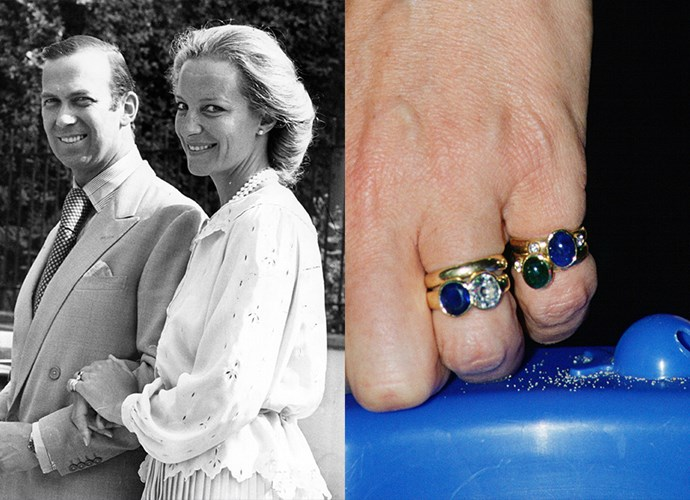 **Baroness Marie Christine von Reibnitz**<br> <br>Marie Christine, later Princess Michael of Kent, received this two-stone ring from Prince Michael in 1978. The sapphire-and-diamond combo was said to have been made from stones the prince inherited from his mother, Princess Marina.