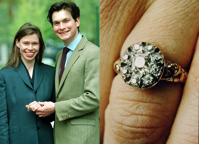 **Lady Sarah Chatto**<br><br> Princess Margaret's daughter, Lady Sarah, married Daniel Chatto in 1994 and received this vintage cluster ring.