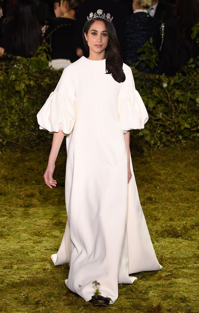 ***Christian Dior***<br><br> Of course, there is always the wildcard. Instead of American or British, why not French? No brand is encapsulating the sense of French elegance and nonchalance right now than Maria Grazia Chiuri's Dior. Could Meghan choose one of her fairy-tale worthy gowns?