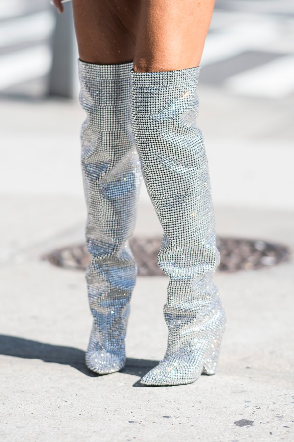 "**Saint Laurent's Glitter Boots** Making their debut on the runway back at Paris fashion week in February, [Saint Laurent's slouchy glitter boots](https://www.harpersbazaar.com.au/fashion/saint-laurent-rhinestone-boots-waitlist-4003|target=""_blank"") have since been worn by some of the most stylish celebrity A-listers, including Rihanna and Kendall Jenner."