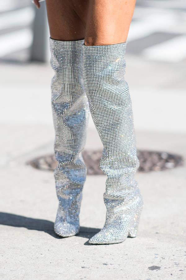 """**Saint Laurent's Glitter Boots** Making their debut on the runway back at Paris fashion week in February, [Saint Laurent's slouchy glitter boots](https://www.harpersbazaar.com.au/fashion/saint-laurent-rhinestone-boots-waitlist-4003