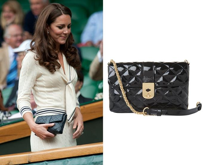 "***Jaeger London's ""The Kate"" quilted clutch***<br><br> After Kate was spotted out carrying this Jaeger London clutch, the accessories company named it for her.<bR><br> It is currently no longer for purchase."