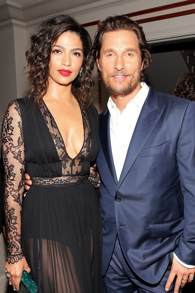 "**Matthew McConaughey and Camila Alves** <br><br> McConaughey and Alves have been together for 11 years, and married for five. Alves told [*Ocean Drive*](https://oceandrive.com/|target=""_blank"") the couple's secret for keeping their marriage fresh: ""Sometimes it's just a staycation, taking one night at a hotel that's 15 minutes away from your house. But you pack a backpack. You go to dinner. You get to have talks and sleep in the next day. Walk around, have breakfast and lunch together."""