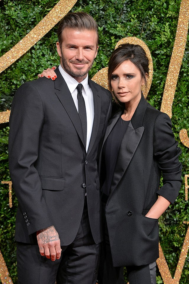 "**Victoria Beckham and David Beckham** <br><br> The Beckhams have weathered a lot during their 18-year marriage—including a cheating scandal—but their relationship is stronger than ever. Previously, [Victoria has said](https://www.harpersbazaar.com.au/celebrity/victoria-beckham-secret-to-happy-marriage-5562) that they make sure to have quality time together, which includes being able to ""put the phones down, and sometimes just talk."""