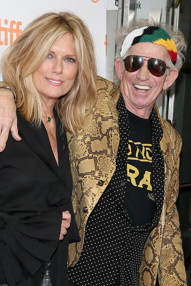 "**Keith Richards and Patti Hansen** <br><br> Rock star Richards and Hansen, a model, have been married since 1983. From what Richards told [*USA Today*](https://www.youtube.com/watch?v=owi3Gdm7EQI|target=""_blank"") in 2014, his wife is very understanding. ""It's quite simple. We happen to love each other,"" he said, ""and she can put up with me, which is very difficult to find a woman, especially one as beautiful as that, who will put up with me, or at least my lifestyle, and the nature of my job. I'm not saying it's difficult, but it's a juggle."""