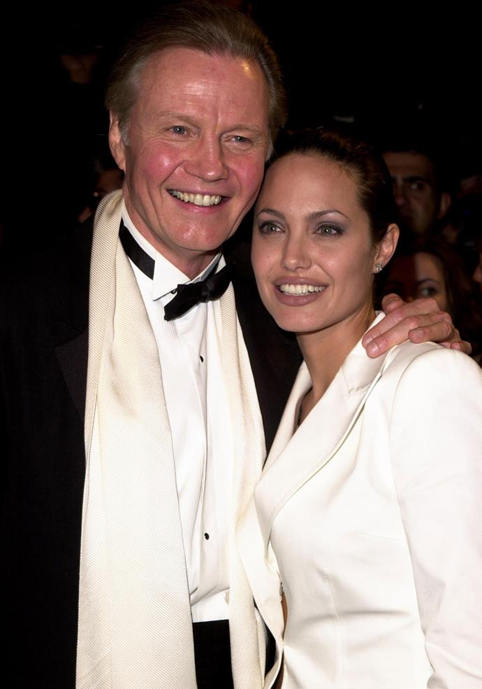 Angelina Jolie and her father Jon Voight.