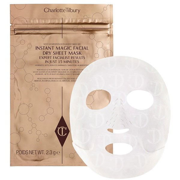 """**Charlotte Tilbury Instant Magic Facial Dry Sheet Mask, $35 at [Charlotte Tilbury](http://www.charlottetilbury.com/au/dry-sheet-face-mask.html