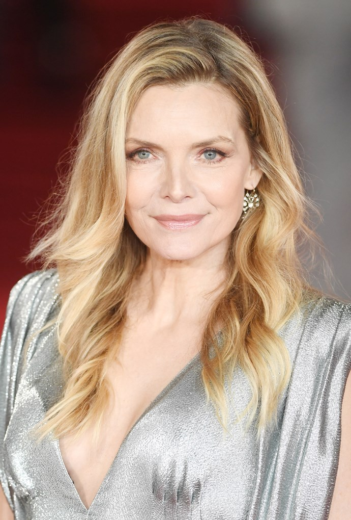 """**7. Michelle Pfeiffer** <br><br> """"It is wonderful to see her career having a second wind this year—and that is because of her classical beauty, defined by those high cheekbones."""""""